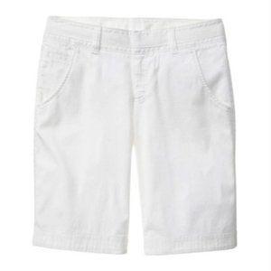 ATHLETA Fo Sho White Bermuda Shorts